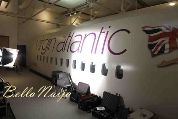 Virgin Atlantic Plane on Set