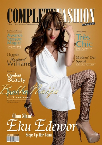Muy Caliente Eku Edewor Is Chic Ice Prince Is Superstar Fly On The Cover Of Complete Fashion