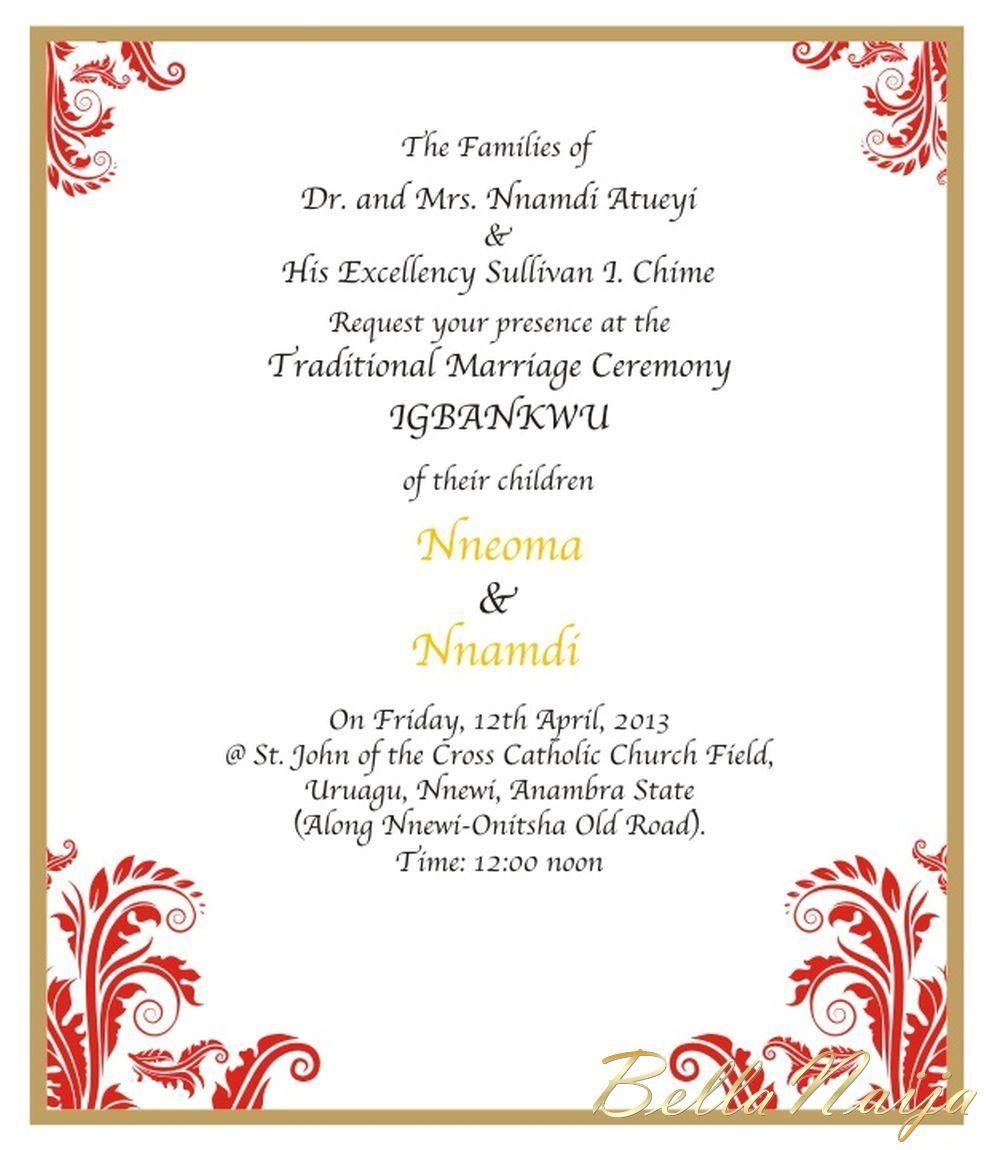 Wedding Bells in Enugu State! Nnamdi Chime & Nneoma Atueyi ...