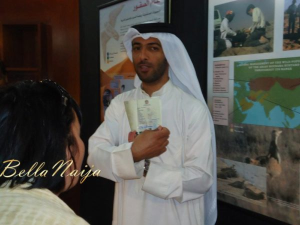 Our Tour guide Hassan Al Sarhan with the Falcon passport