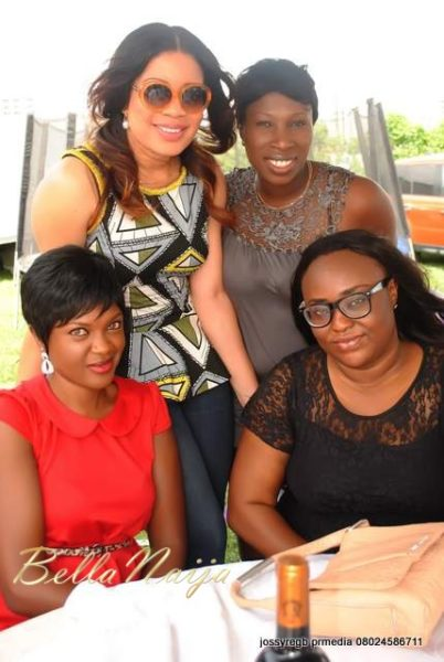 Monalisa with guests including Emem Isong and Omoni Oboli