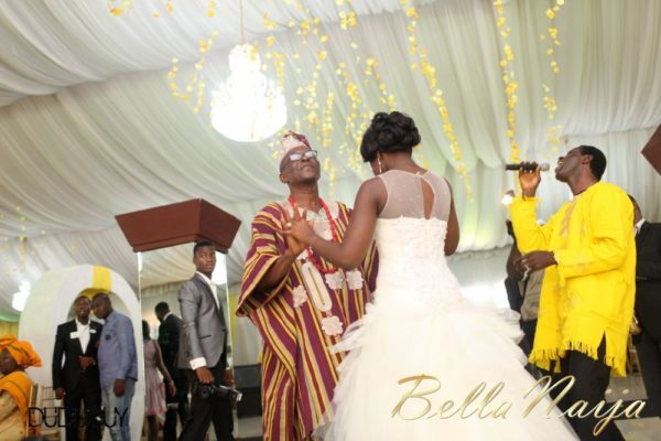 Tosin Alakija & Dotun Akinbode White Wedding 1 - March 2013 - BellaNaija247