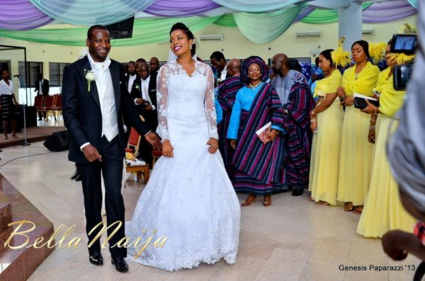 Tosin Obasa Bolade Kehinde White Wedding - March 2013 - BellaNaija058