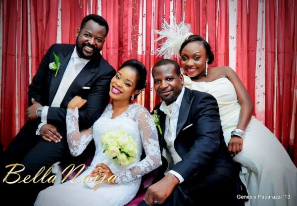 Tosin Obasa Bolade Kehinde White Wedding - March 2013 - BellaNaija105