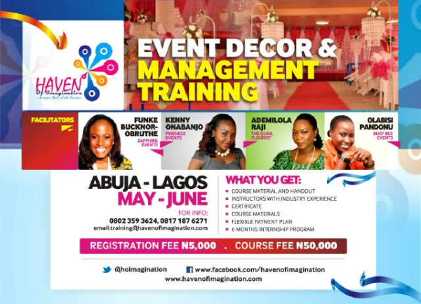 Learn from the experts at the event decor amp management training