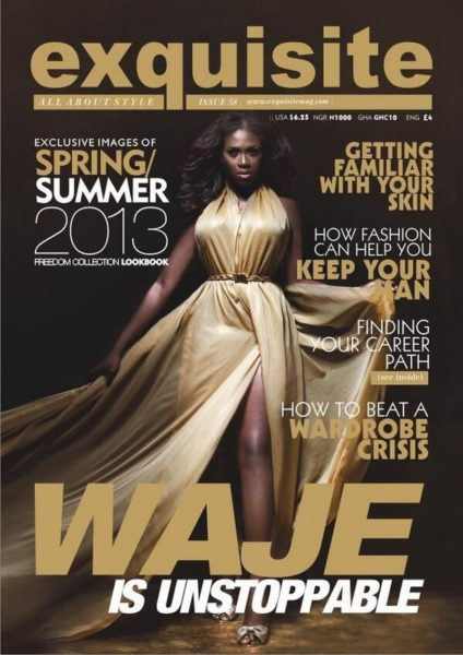 Exquisite Magazine Waje cover - Bellanaija - April2013