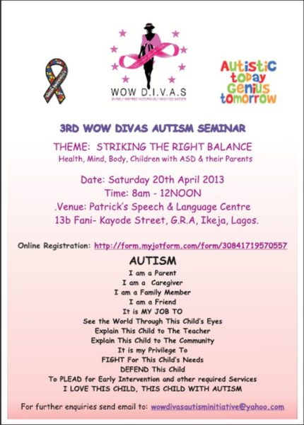 WOW D.I.V.A.S Flier - BellaNaija - April2013