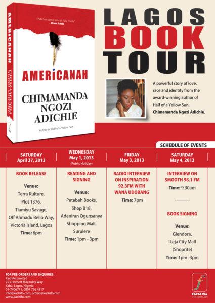 Americanah Lagos Book Tour