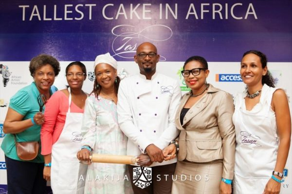 BN Exclusive_ Official Photos from Cakes by Tosan's The Tallest Cake in Africa Project in Lagos - May 2013 - BellaNaija021