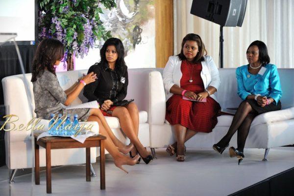 Re-Defining the African Woman panel – Samantha Page, Julie Gichuru, Lindiwe Mazibuko, and Rutang Moses
