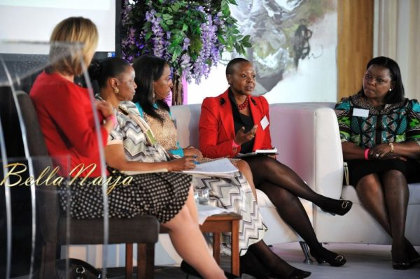Africa's Turn panel – Robyn Curnow, Deputy Minister Hlengiwe Mkhize (for Economic Development), Yvonne Ike, Elsie Kanza and Bola Adesola