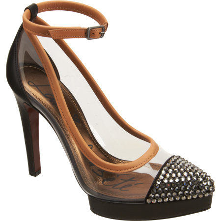 Lanvin Strass-Studded Cap Toe Pump
