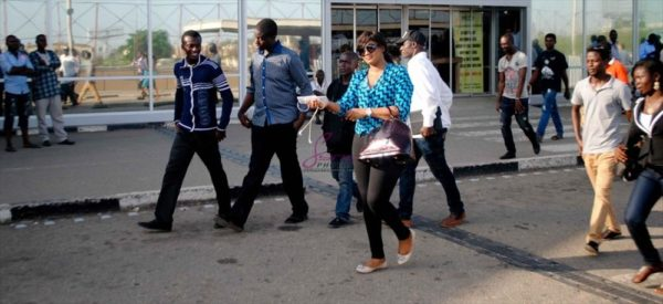 Omotola arrives in Lagos - May 2013 - BellaNaija001