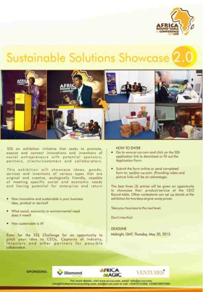 Sustainable Solutions Showcase 2.0 - BellaNaija - May2013