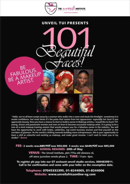 Unveil 101 Beautiful Faces - BellaNaija - May2013
