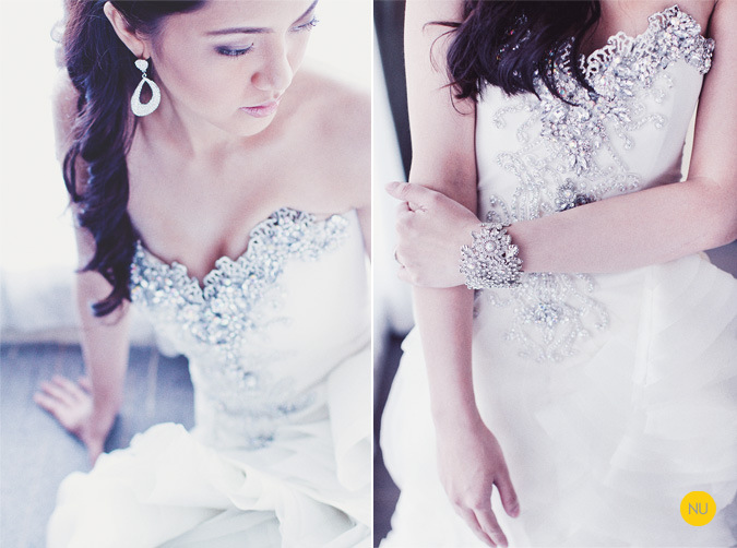 Real Bride in Corseted Francis Libiran embroidered in Crystal