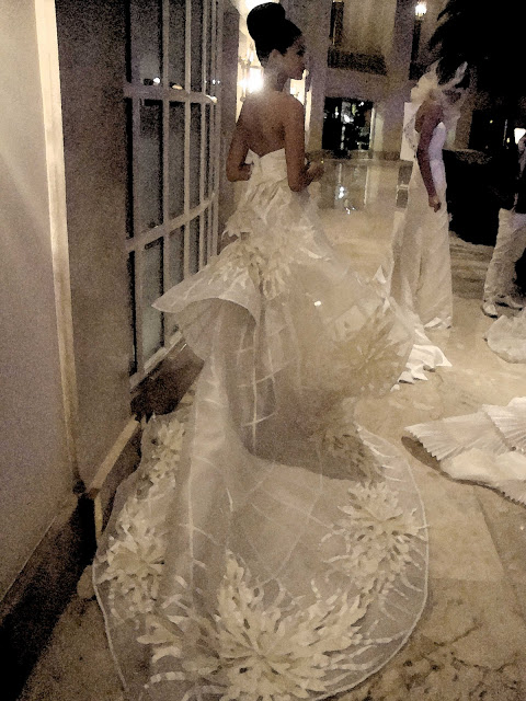 Francis Libiran Gown Cathedral Length Train - Love!
