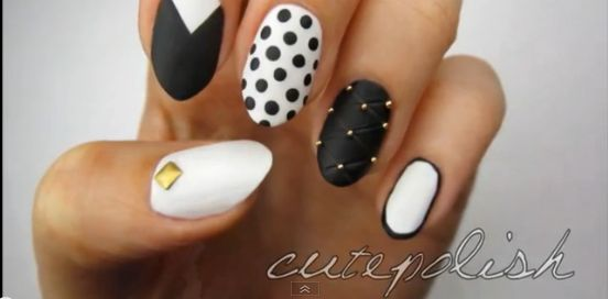 Bn do it yourself 5 amazing nail art designs you can try today mix and match monochrome nails bn do it yourself nail art bellanaija june2013006 solutioingenieria