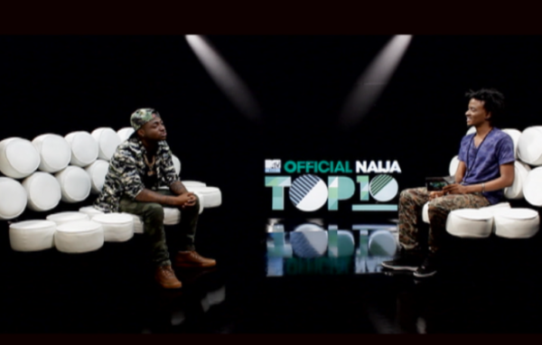 Davido and Ehis on Episode 13 of the MTV Base Official NAija Top 10