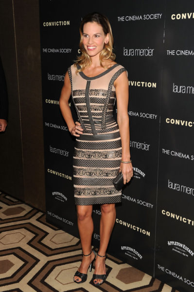 Hilary Swank in Herve Leger by Max Azria - BN Pick Your Fave - June 2013 - BellaNaija