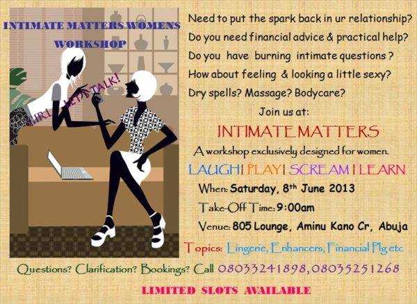 Intimate Matters Womens Workshop - June 2013  - BellaNaija