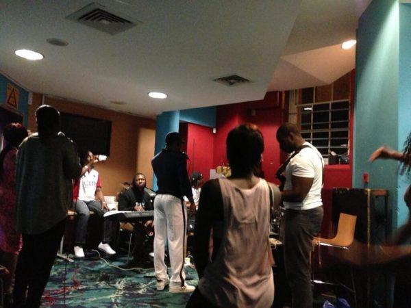 Iyanya at rehearsal