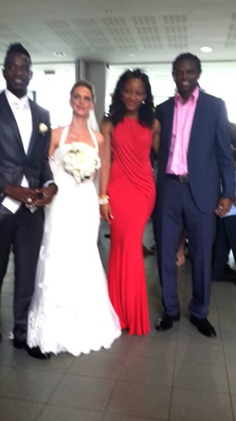 The Utakas with Kanu Nwankwo and his wife Amarachi