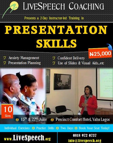 Live Speech Coaching - June 2013 - BellaNaija