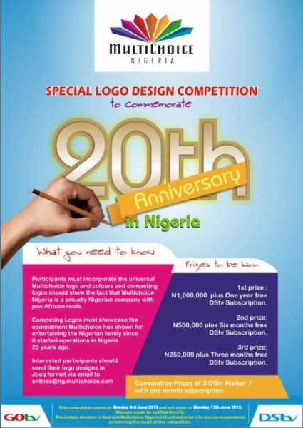 Multichoice 20th Anniversary in Nigeria Competition - BellaNaija - June2013