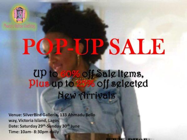 Phoenix Online Clothing Pop-Up Sale