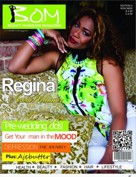 Regina Askia Williams covers Beauty Overdose Magazine - June 2013 - BellaNaija001