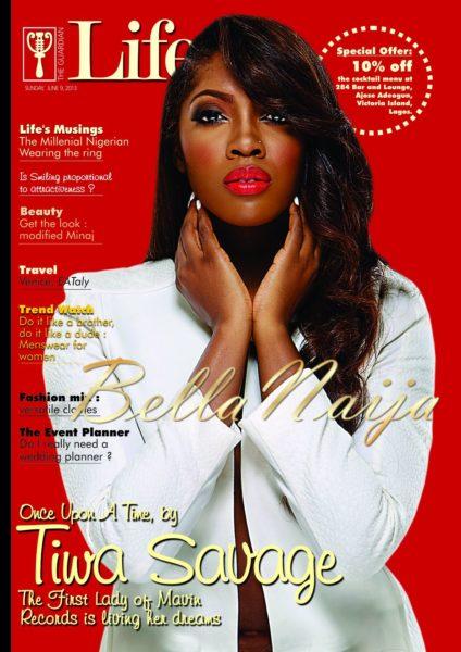 Tiwa Savage Life Cover - June 2013 - BellaNaija