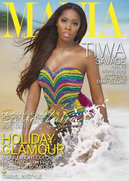Tiwa Savage on the cover of Mania Magazine - June 2013 - BellaNaija002