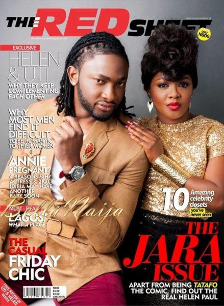 Uti Nwachukwu & Helen Paul on the cover of the RedSheet Magazine - June 2013 - BellaNaija003