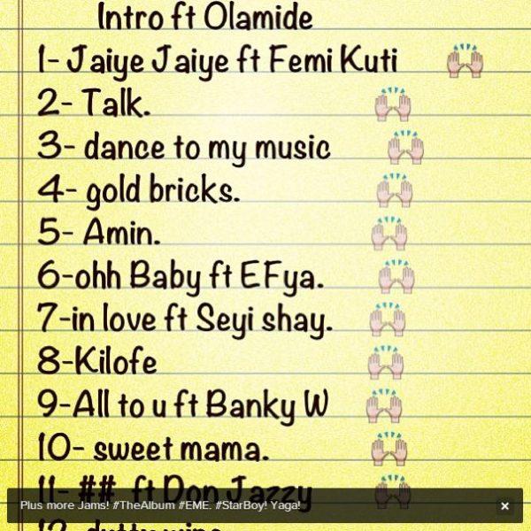 wizkid track list