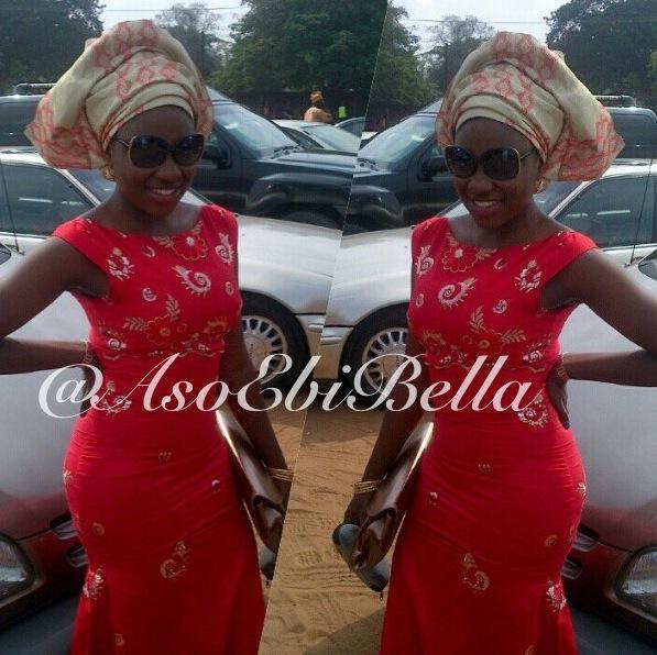 Red with embellishments! - @yinkasajala