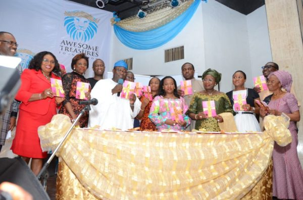 "Unveiling ""Designed For Marriage"" L-R Mr & Mrs Idy Enang, the author, her husband, His Excellency Dr Fayemi, Mr & Mrs Yinka Sanni, Mr & Mrs Tonye Cole,H.E Princess Sarah Sosan, Mr & Mrs Alibaba Akpobome, Mrs Holloway"