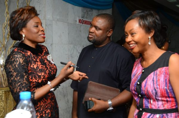 Mrs Olajumoke Adenowo with Mr & Mrs Kentebe at the reception afterwards