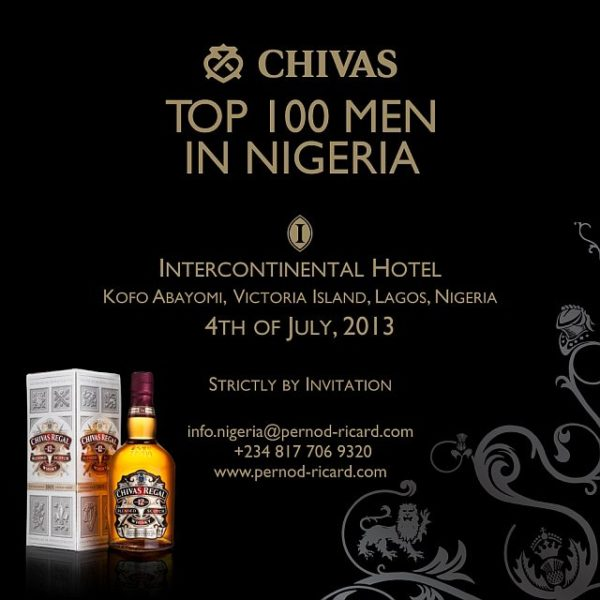 Chivas Top 100 Men in Nigeria
