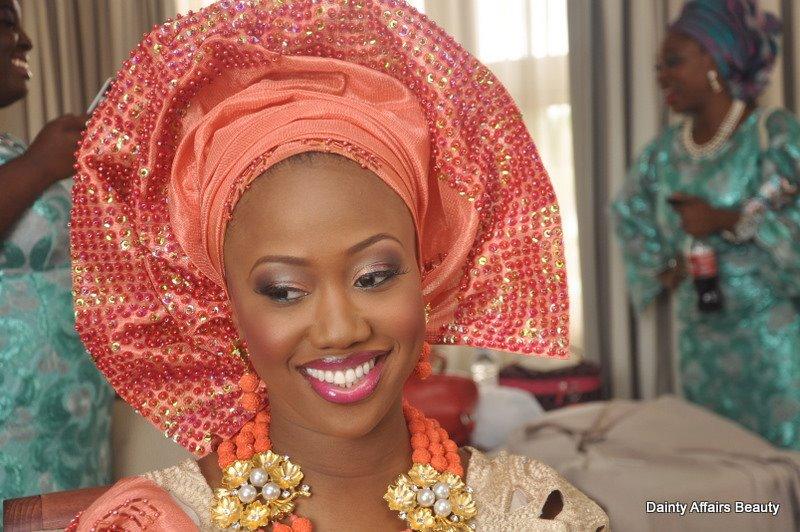 DAINTY_AFFAIRS_BEAUTY_bellanaija_weddings_nigerian_bride_pink_sequin_gele