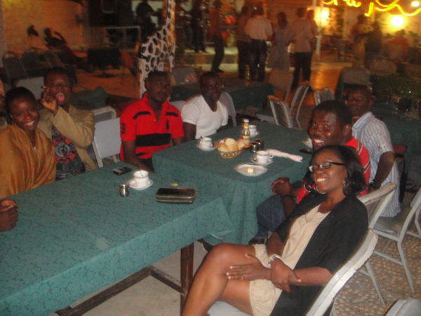 Drinks with friends at Senegambia