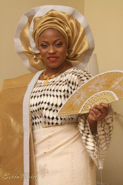 BN Bride Kehinde sparked the Blinged Gele trend