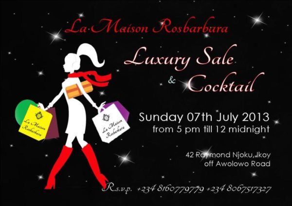 La Maison Rosbarbara Luxury Sale & Cocktail