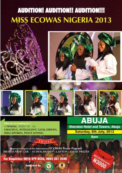 Miss Ecowas Nigeria 2013