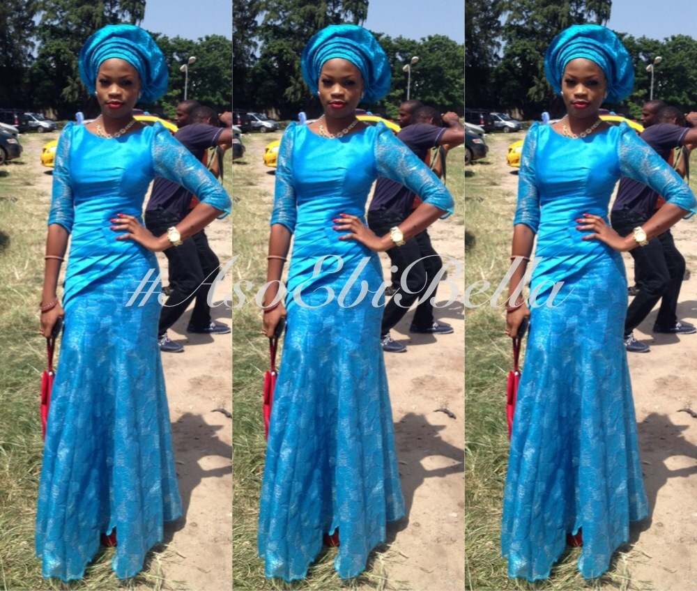 Blue And Purple Wedding Dress 35 Vintage Nigerian Wedding AsoEbi BellaNaija