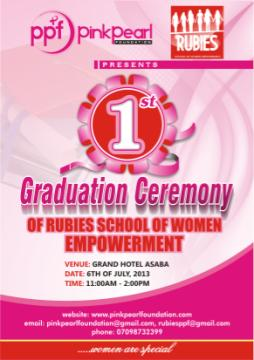 Rubies 1st Graduation Ceremony