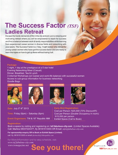 TW Magazine - The Success Factor Ladies Retreat