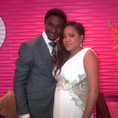 Adeniyi Johnson & Toyin Aimakhu at their wedding in 2013