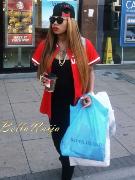 Toyin Lawani Sporty Street Style Look in London - July 2013 - BellaNaija 022