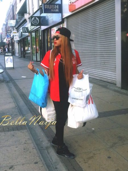 Toyin Lawani Sporty Street Style Look in London - July 2013 - BellaNaija 023